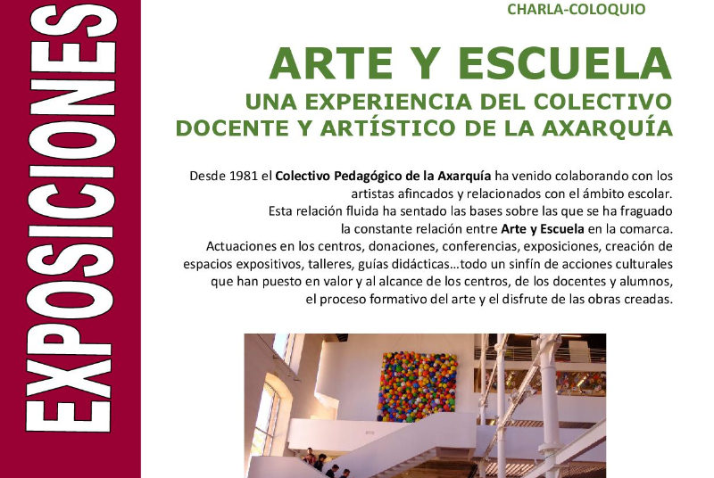 CHARLA-COLOQUIO 'ARTE Y ESCUELA'