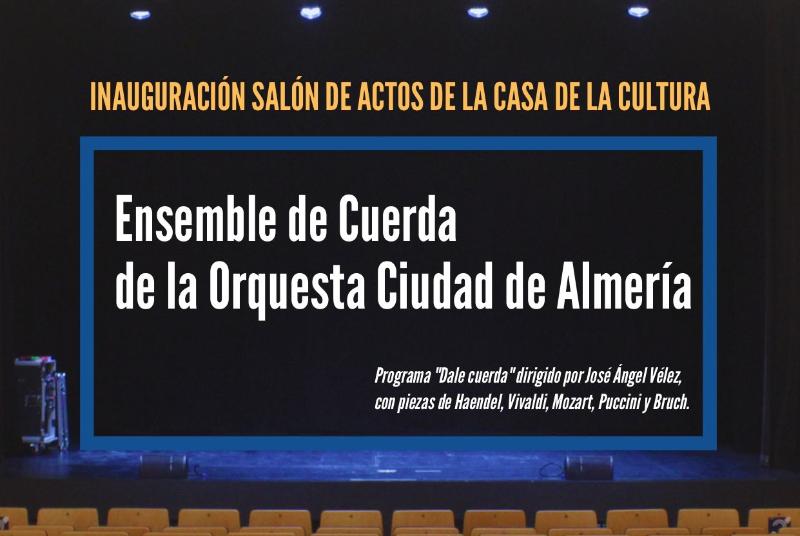 INAUGURACIÓN SALÓN DE ACTOS DE LA CASA DE LA CULTURA
