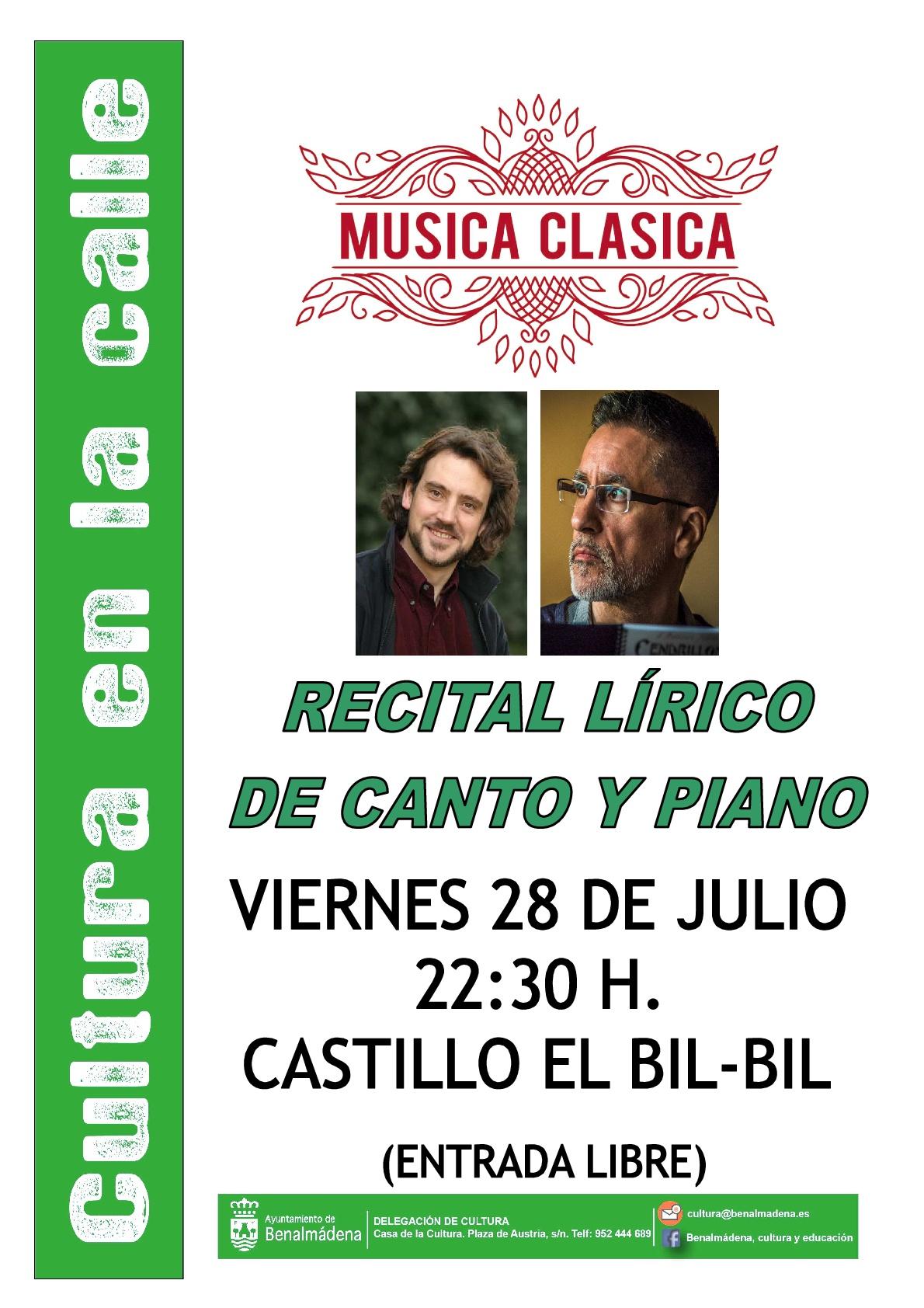 Recital Lírico de Canto y Piano